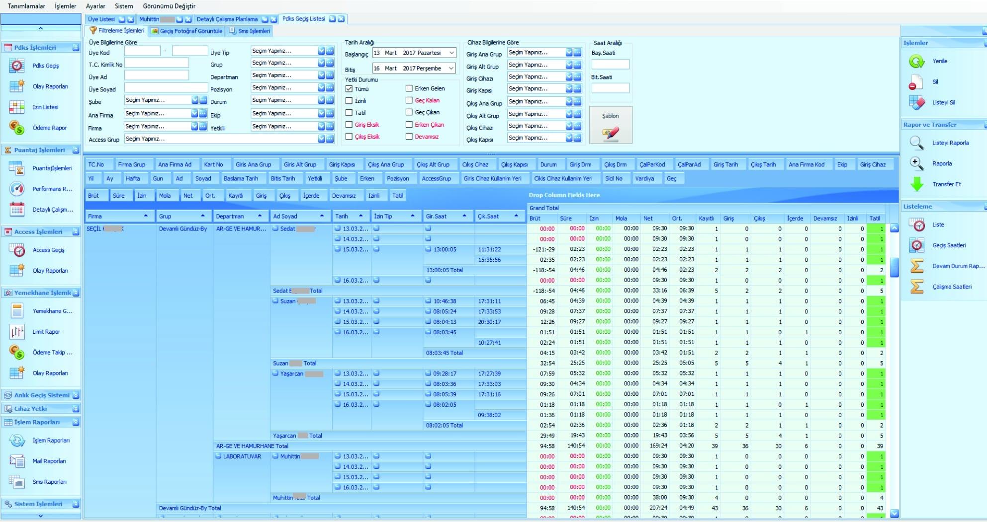 access kontrol sistemi yazılımı
